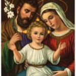 San Giuseppe la Madonna e Gesù Bambino al centro