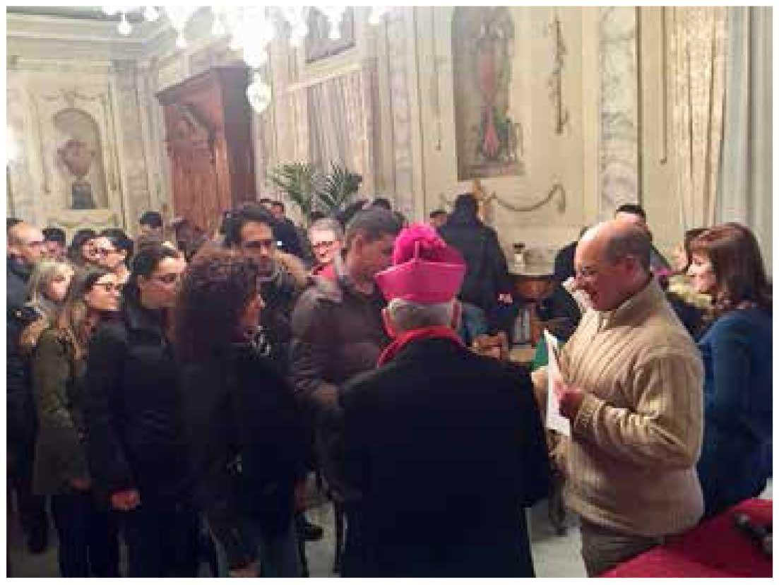 I fidanzati incontrano l'Arcivescovo
